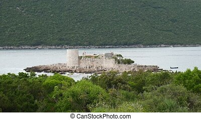 Island Otocic Gospa Near the island of Mamula. On Lustica, Monte
