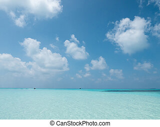 island., paesaggio tropicale, idilliaco, panorama., meeru, maldive