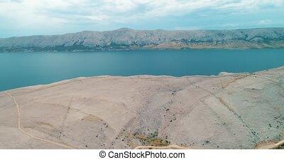Island Pag landscape, Croatia - Island Pag desert landscape...