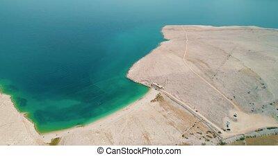 Island Pag landscape with a beach, Croatia - Island Pag...