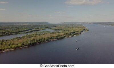 Island river aerial