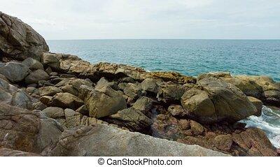 island., rochers, rivage, phuket