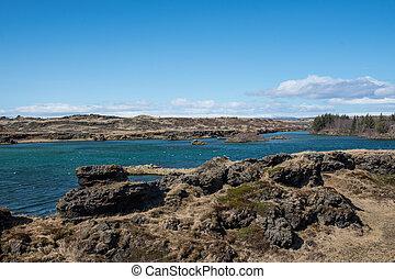 island, see, landschaftsbild, myvatn