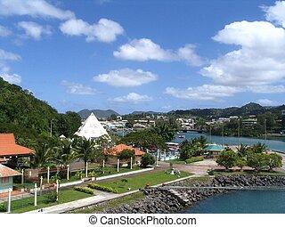 Island St. Lucia, caribbean