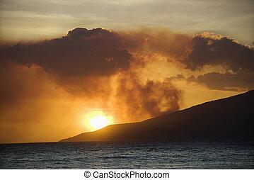 Island sunset.