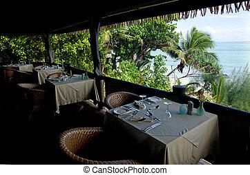 island., två, pacific ocean, tropisk, bord