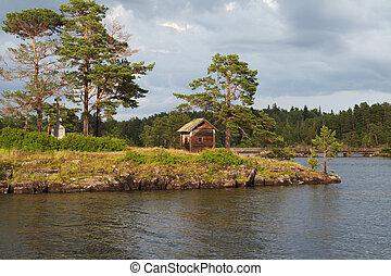 Island Valaam on Ladooga lake. North Russia
