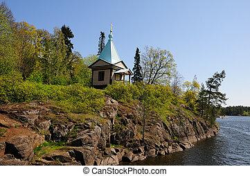 Island Valaam on Ladooga lake - North Russia. Island Valaam...