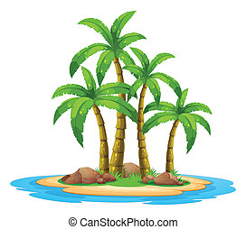 Island - Illustration of an desert island