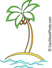 Island with a palm