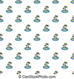 Island with palm trees pattern