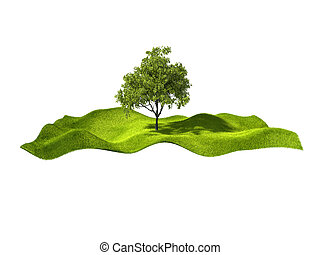 island with tree
