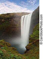 islanda, cascata, -, skogafoss