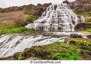 islanda, dynjandi, cascata