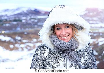 islande, beauté, portrait