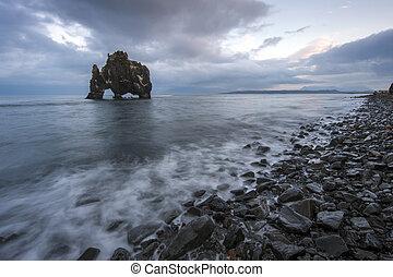 islande, nord, hvitserkur