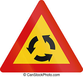 islandia, círculo, intersección, tráfico