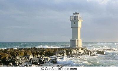 islandia, latarnia morska, port