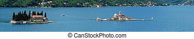 Islands in the Bay of Kotor. Montenegro