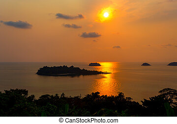 islands in the sunset