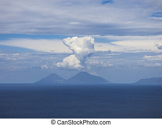 Islands of Lipari at Sicily