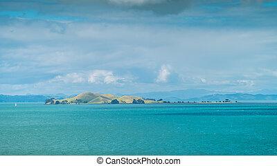 Islands of the Hauraki Gulf in Auckland New Zealand
