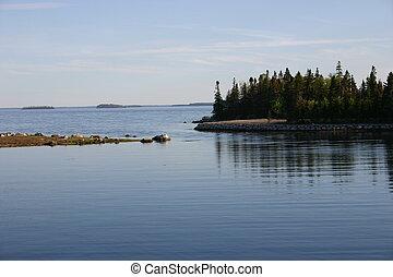 Islands on Lake