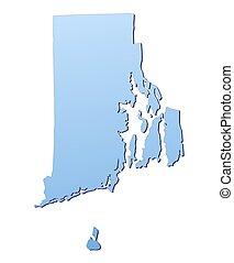 island(usa), rhode, carte