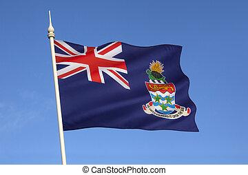 islas, bandera, caimán
