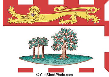 islas, bandera, edward, príncipe