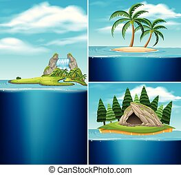 islas, diferente, colección