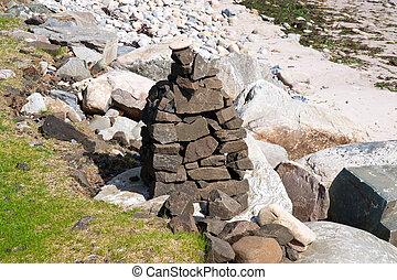 Islay cairn - Cairn on Islay coastline