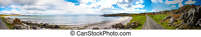 Islay landscape - Panoramic view of Islay coastline