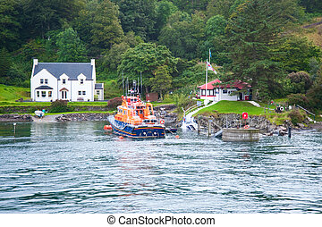 Islay shore and boat