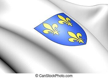 Isle de France coat of arms, France.