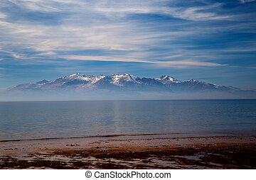 Isle of Arran from Seamill Beach Ayrshire - Isle of Arran...
