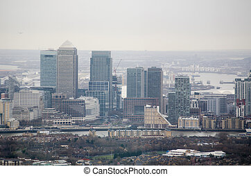 Isle of Dogs, Aerial View