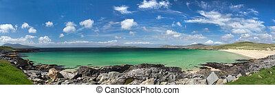 Isle of Harris beach panorama