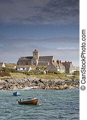 Isle of Iona, Iona Abbey; Scotland; UK
