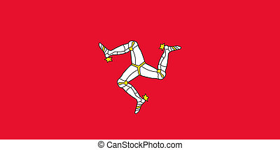 Isle of Man Flag - Sovereign state flag of dependent country...