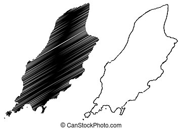 Isle of Man map vector