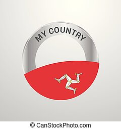 Isle of Man My Country Flag badge