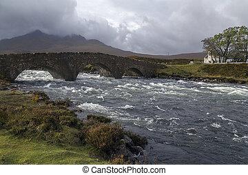 Isle of Skye - Scotland - The old bridge at Sligachan on the...