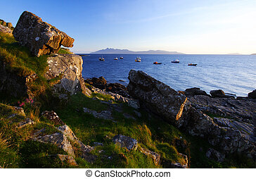 skye shoreline at sunset