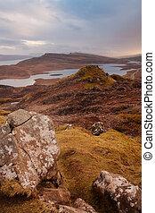 Isle of Skye - Scottish landscapes: Isle of skye at sunset
