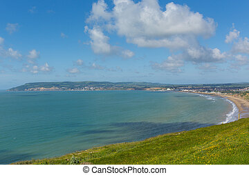 Isle of Wight coast Bay Shanklin - Bay and coastline...