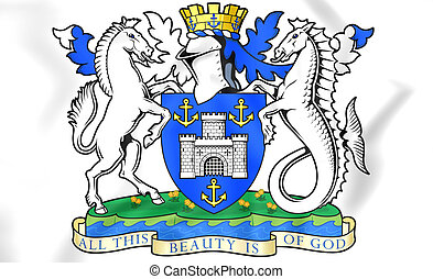 Isle of Wight Coat of Arms, England.