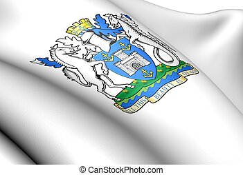 Isle of Wight Council coat of arms. Close up.
