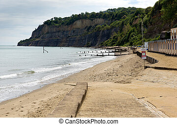 Isle of Wight sandy beach Shanklin - Shanklin town Isle of...
