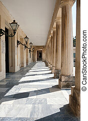 isle with columns in Corfu city